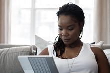 Woman Browsing The Web