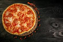 Delicious Pizza Diablo On Wood...