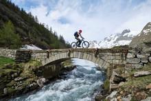 Cycling Through The Val Veny. ...