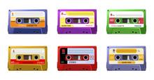 Retro Cassettes. Vintage 1990s...