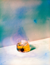 Psychedelic Manhattan Cocktail