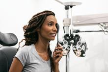 Eyewear: Woman Uses Eye Occlud...