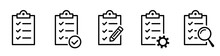 Clipboard Icon. Checklist With...