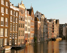 Amsterdam Houses Along A Canal
