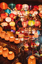 Traditional Handmade Lamps In Hoi An