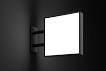 Blank Square Light Box Sign Mo...