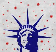 3D Rendering Idea For New York As The Epicenter Of The Coronavirus Outbreak.