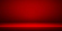Empty Red Studio Room Interior...