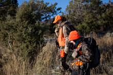 Two Female Hunters Walk Home W...