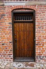 Old Vintage Wooden Door With B...