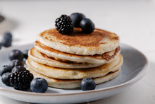Stack Of Pancakes With Berries...