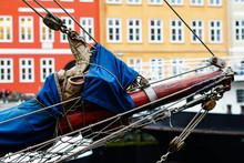 Tall Ship Schooner Sailing On ...