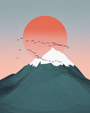 Minimal Mountains Artwork