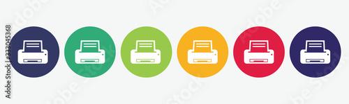 Cuadros en Lienzo Printer flat icon set.