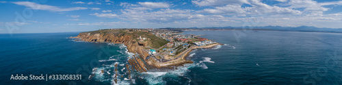 Panoramic views of the stunning holiday town of Mosselbay in the Garden Route of Canvas Print