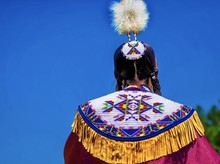 Closeup Shot Of A Person In An Asian Colorful Festive Regalia