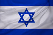 israel silk national flag of modern state with beautiful folds, concept of tourism, travel, emigration, global business