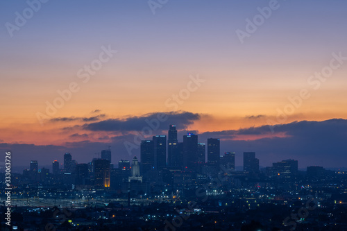 Photo Los Angeles Skyline at Sunset