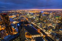 Melbourne, Australia At Dusk