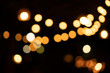 bulb lamp light bokeh of party outdoor on night background