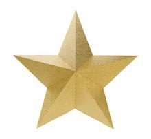 Golden Christmas Star Isolated...