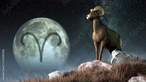Photo Aries is the first sign of the Zodiac