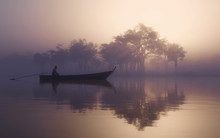 Lake Misty Fog