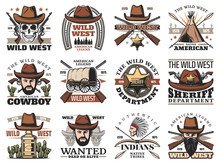 Wild West Cowboy Skull And She...