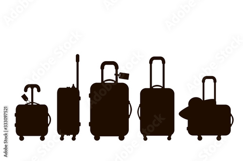 Fotografering Suitcases silhouette