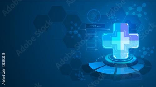 Obraz medical healthcare diagnostics disease concept design tech background - fototapety do salonu