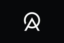 Minimal Elegant Monogram Art Logo. Outstanding Professional Trendy Awesome Artistic AP PA Initial Based Alphabet Icon Logo. Premium Business Logo White Color On Black Background