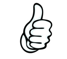 Thumbs Up Vector Icon. Hand Sh...