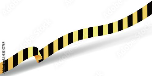 Barricade tape vector illustration Canvas Print
