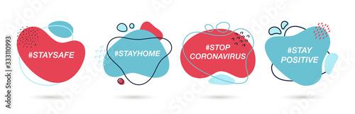 Coronavirus hashtags set to prevent the spread of coronavirus фототапет