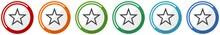Star Icon Set, Flat Design Vec...