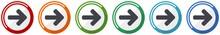 Right Arrow Icon Set, Next Fla...