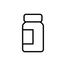 Simple Medicine Line Icon.