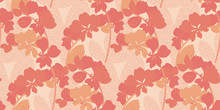 Orange Orchid Abstract Floral ...