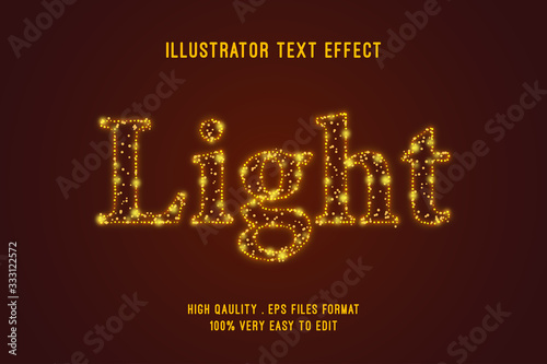 Editable Text effect - Light outline glitter effect