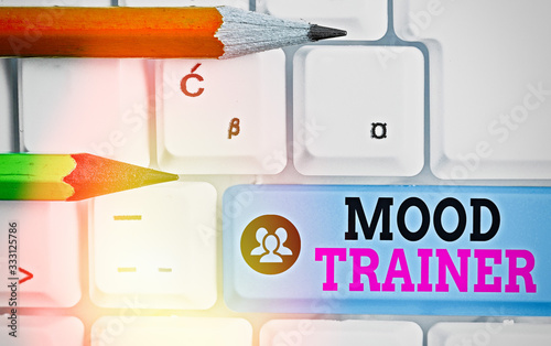 Photo Writing note showing Mood Trainer
