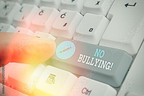 Obraz na plátně Conceptual hand writing showing No Bullying