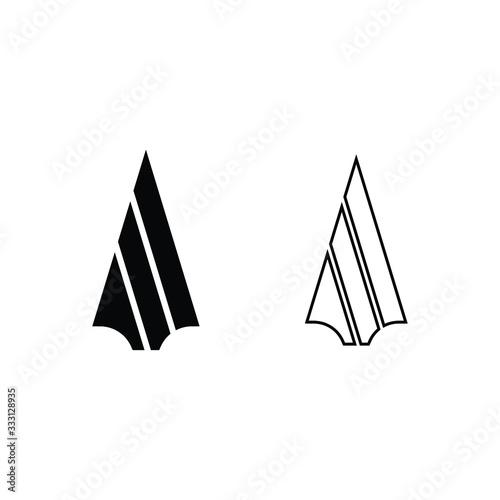 Wallpaper Mural Spear logo icon vector design