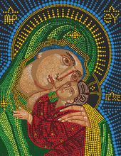 Mosaic Icon Of The Virgin