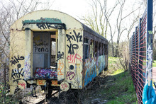 Verfallener Wagon