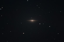 The Sombrero Galaxy Messier 104 In The Constellation Virgo As Seen From Mannheim In Germany.