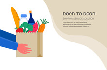 Food Delivery Service Concept,...