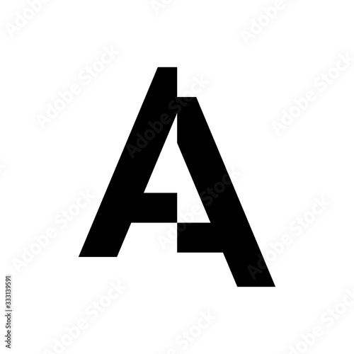 Photo initial letter a cut off vector logo