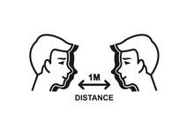 Social Distancing Icon,Keep Di...