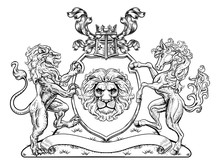A Crest Coat Of Arms Family Sh...