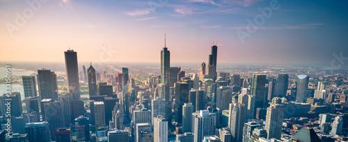 Fototapeta Chicago city skyline, USA